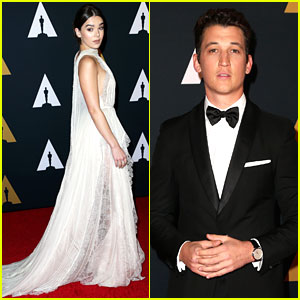 Hailee Steinfeld & Miles Teller Attend Governors Awards 2016!