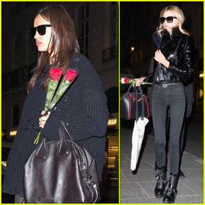 Irina Shayk Covers Up Possible Baby Bump While Out in Paris