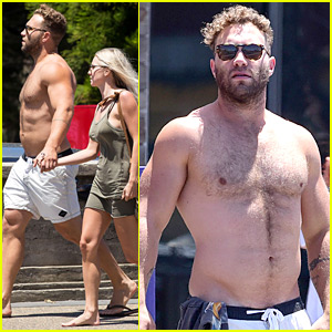 Suicide Squad's Jai Courtney Looks So Hot While Shirtless with Girlfriend Mecki Dent!