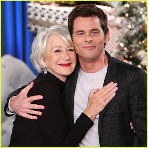 VIDEO: James Marsden Meets Celebrity Crush Helen Mirren After Taking 'Creepy' Photo of Her!