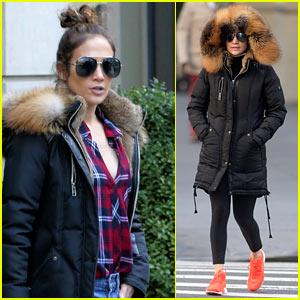 Jennifer Lopez Bundles Up in NYC!