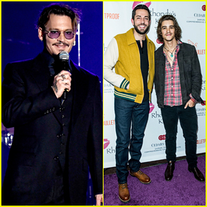Johnny Depp Suits Up To Get Honored At 2016 Rhonda's Kiss Benefit Concert!