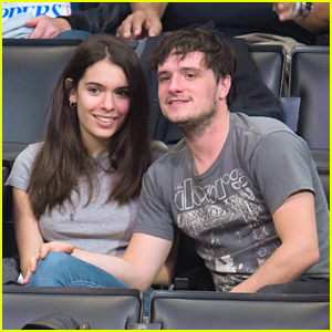 Josh Hutcherson & Claudia Traisac Couple Up at Clippers Game