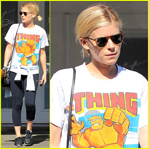 Kate Mara Reps 'Fantastic Four' T-Shirt During Her Dance Class