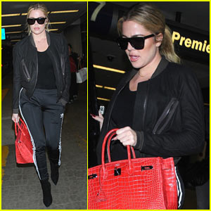 Khloe Kardashian Arrives Back in LA After Spending Thanksgiving with Boyfriend Tristan Thompson