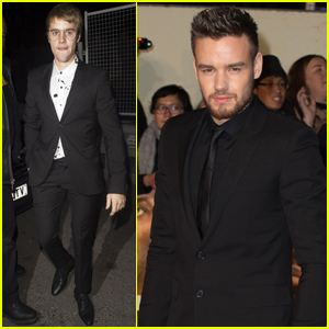 Justin Bieber & Liam Payne Support Usain Bolt at 'I Am Bolt' Premiere