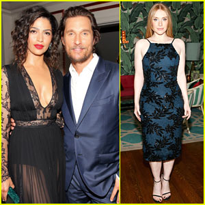 Matthew McConaughey Celebrates Upcoming Film 'Gold' at Private Party