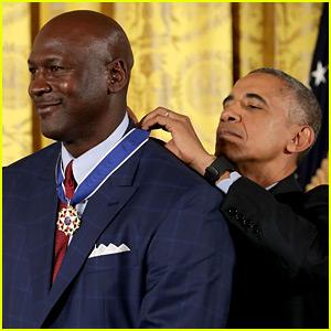 VIDEO: Michael Jordan Cries as Obama Calls Him 'More Than a Meme'