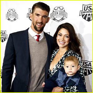 Boomer Phelps Makes His Red Carpet Debut as Dad Michael Wins Swimmer of the Year!