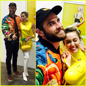 Miley Cyrus & Liam Hemsworth Support Pal Vijat Mohindra's Exhibition Preview!