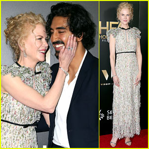 Nicole Kidman & Dev Patel Share Sweet Moment at Hollywood Film Awards 2016