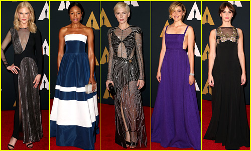 Nicole Kidman, Naomie Harris, & More Best Supporting Actress Contenders Glam Up for Governors Awards!