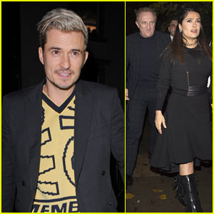 Orlando Bloom, Salma Hayek, & More Step Out to Support Stella McCartney!