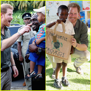 Prince Harry Adorably Spends Time With Kids in the Caribbean