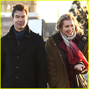 Jerry O'Connell Visits Wife Rebecca Romijn on Set in Paris
