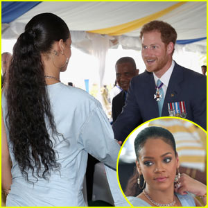 Rihanna Meets with Prince Harry as He Visits Barbados!