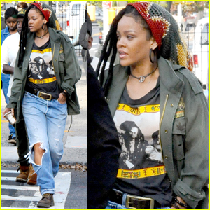 Rihanna Returns to the Set of 'Ocean's Eight'