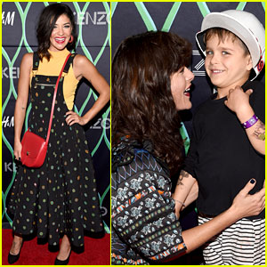 Selma Blair Brings Adorable Son Arthur to Kenzo x H&M Event