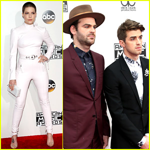 The Chainsmokers & Halsey Hit the AMAs 2016 Red Carpet Before Their Performance!