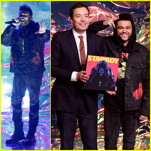 VIDEO: The Weeknd Performs 'I Feel It Coming' & 'Starboy' Medley On 'Tonight Show'!