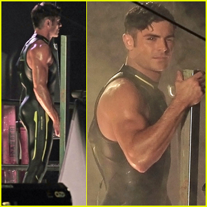 Zac Efron Shows Some Muscle During 'Baywatch' Re-Shoots