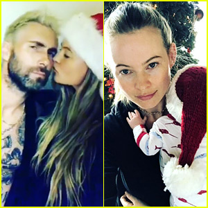 Adam Levine Goes Blond Again for First Christmas as a Dad!