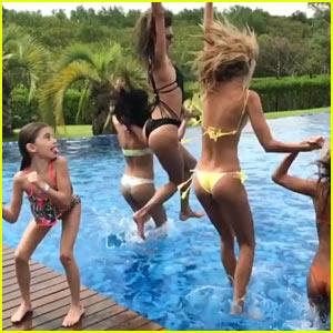Alessandra Ambrosio & Her Girlfriends Make a Splash in Brazil!