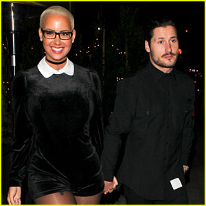 Amber Rose & Val Chmerkovskiy Hold Hands on Date Night!