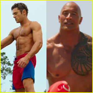 VIDEO: Zac Efron & Dwayne Johnson's 'Baywatch' Trailer Has So Many Shirtless Moments!