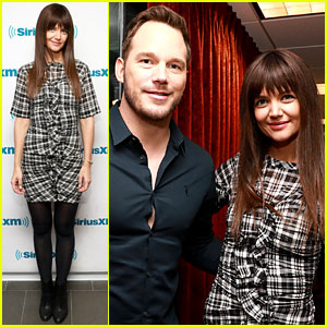 Chris Pratt & Katie Holmes Meet Up During Their Separate Press Tours!