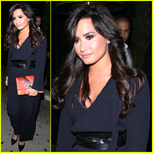 Demi Lovato Looks Classy for Jay Z's Roc Nation Company Party