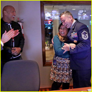VIDEO: Dwayne Johnson Surprises 'Tonight Show' Employee With Military Homecoming!