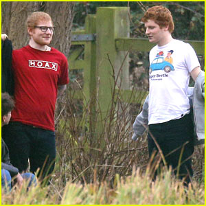 Ed Sheeran Has a Doppelganger on the Set of His Latest Music Video!