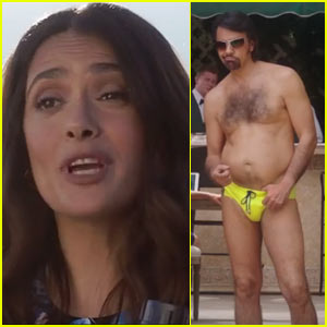 VIDEO: Salma Hayek's Womanizer Brother Moves in With Her in 'How to Be a Latin Lover' Trailer!