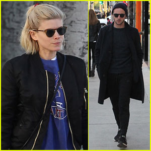 Kate Mara & Jamie Bell Step Out Separately in Beverly Hills