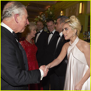 Lady Gaga Meets Prince Charles at Royal Variety Performance in London!