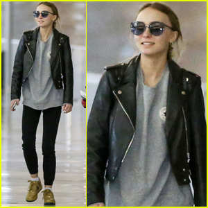 Lily-Rose Depp Gets in Some Family Time Over the Holidays