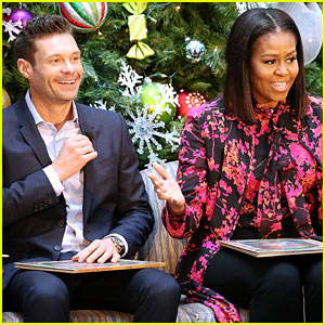 VIDEO: Michelle Obama & Ryan Seacrest Read Christmas Classics at Children's Hospital