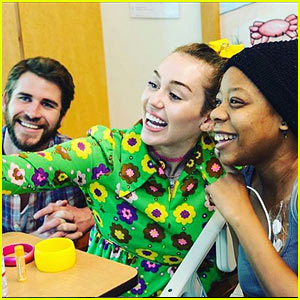 Miley Cyrus & Liam Hemsworth Spend the Afternoon Visiting the Rady Children's Hospital!