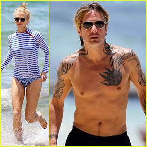 Nicole Kidman Hits the Beach with Shirtless Keith Urban!