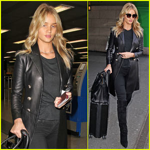 Rosie Huntington-Whiteley Goes Makeup-Free For Flight to Italy