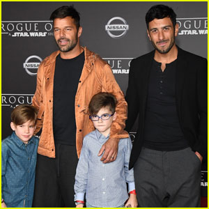 ricky-martin-jwan-sons-rogue-one-premier