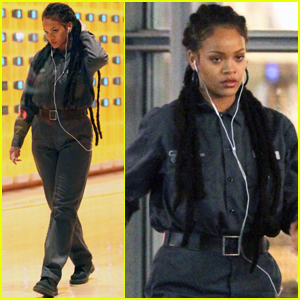 Rihanna Goes Undercover as a Janitor on 'Oceans Eight' Set