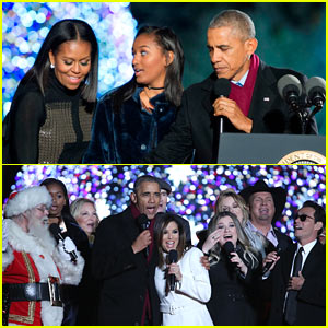 The Obamas Light Their Final Christmas Tree at the White House with Star-Studded Guests!
