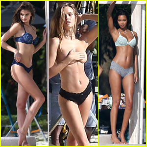 Victoria's Secret Angels Hit the Beach for Super Sexy Shoot!