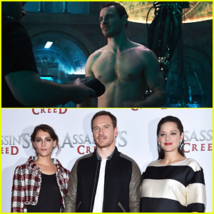 VIDEO: Michael Fassbender Goes Shirtless In New 'Assassin's Creed' Featurette!