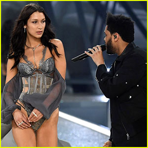 VIDEO: Watch Bella Hadid & The Weeknd Cross Paths on Victoria's Secret Runway!