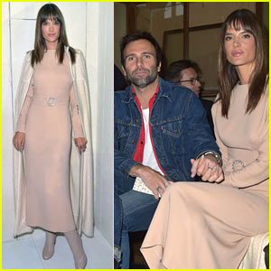 Alessandra Ambrosio & Longtime Love Jamie Mazur Sit Front Row for Bonpoint Fashion Show