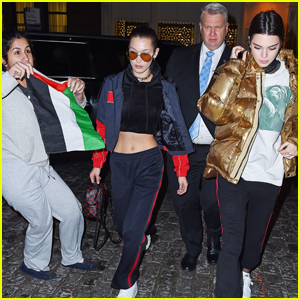 Bella Hadid & Kendall Jenner Get Accosted By Fan With Flag