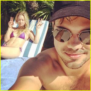Billie Lourd & Taylor Lautner Head on Tropical Vacay